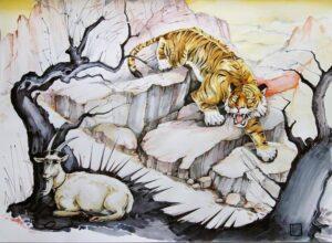 Сманить тигра с горы на равнину