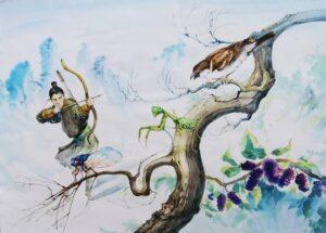 Указывая на тутовое дерево, ругать акацию
