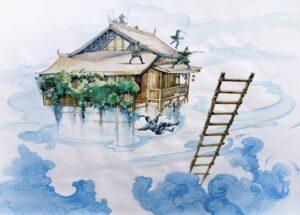 Заманить на крышу и убрать лестницу