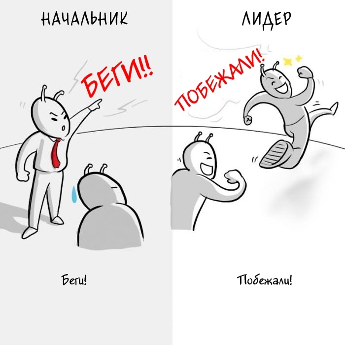Начальник vs Лидер