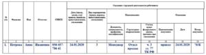 Бланк СЗВ-ТД. Сведения о работнике